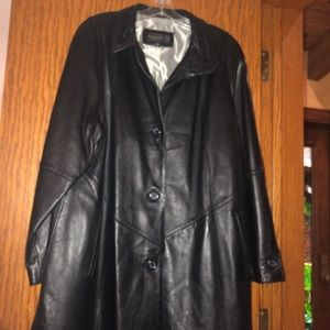 Jackets & Blazers - Black leather coat